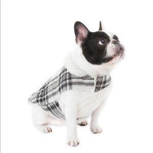 Ugg Dog Coat - Plaid Charcoal